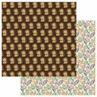 Photo Play Paper - We Bought a Zoo Collection - 12 x 12 Double Sided Paper - Hear Me Roar