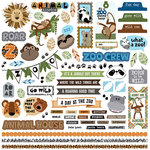Photo Play Paper - We Bought a Zoo Collection - 12 x 12 Cardstock Stickers - Elements