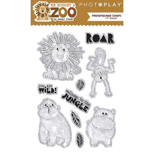 Photo Play Paper - We Bought a Zoo Collection - Clear Acrylic Stamps