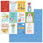 Photo Play Paper - What's Cooking Collection - 12 x 12 Double Sided Paper - Kiss the Cook