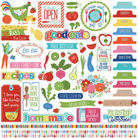 Photo Play Paper - What's Cooking Collection - 12 x 12 Cardstock Stickers - Elements