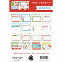Photo Play Paper - What's Cooking Collection - Recipe Cards