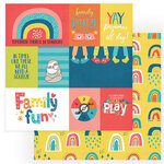 Photo Play Paper - We Can Just Stay Home Collection - 12 x 12 Double Side Paper - Home Family Fun