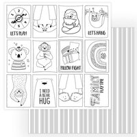 Photo Play Paper - We Can Just Stay Home Collection - 12 x 12 Double Side Paper - Color Me Sheet