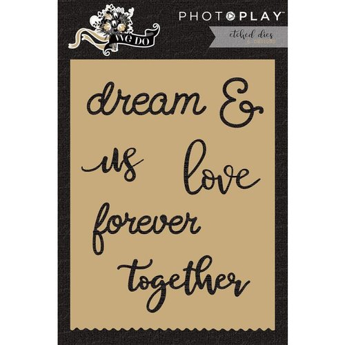 Photo Play Paper - We Do Collection - Die Set - Words