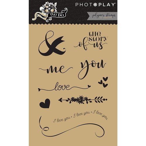 Photo Play Paper - We Do Collection - Clear Acrylic Stamps - Elements