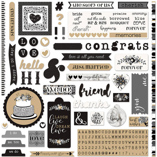 Photo Play Paper - We Do Collection - 12 x 12 Cardstock Stickers - a la Card