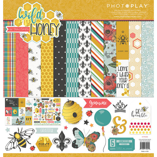 Photo Play Paper - Wild Honey Collection - 12 x 12 Collection Pack