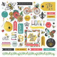 Photo Play Paper - Wild Honey Collection - 12 x 12 Cardstock Stickers - Element