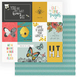 Photo Play Paper - Wild Honey Collection - 12 x 12 Double Sided Paper - Sweet Honey Bee
