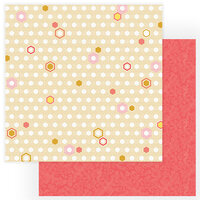 Photo Play Paper - Wild Honey Collection - 12 x 12 Double Sided Paper - Honeycomb