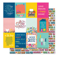 Photo Play Paper - Wicker Lane Collection - 12 x 12 Double Sided Paper - In This House