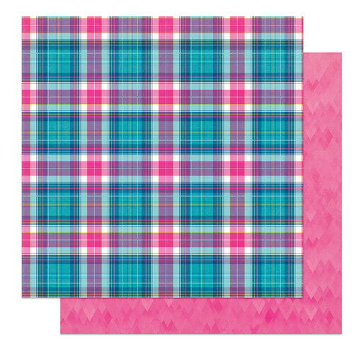 Photo Play Paper - Wicker Lane Collection - 12 x 12 Double Sided Paper - Dad's Flannel