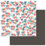 Photo Play Paper - Wild Love Collection - 12 x 12 Double Sided Paper - XOXO