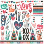 Photo Play Paper - Wild Love Collection - 12 x 12 Cardstock Stickers - Elements