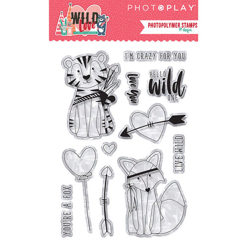 Photo Play Paper - Wild Love Collection - Clear Photopolymer Stamps