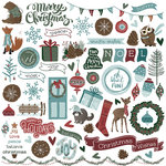 Photo Play Paper - Winter Meadow Collection - Christmas - 12 x 12 Cardstock Stickers - Elements