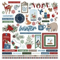 Photo Play Paper - Winter Memories Collection - 12 x 12 Cardstock Stickers - Elements