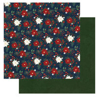 Photo Play Paper - Winter Memories Collection - 12 x 12 Double Sided Paper - Poinsettias