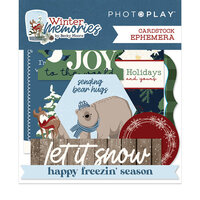 Photo Play Paper - Winter Memories Collection - Ephemera