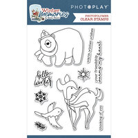 Photo Play Paper - Winter Memories Collection - Clear Photopolymer Stamps