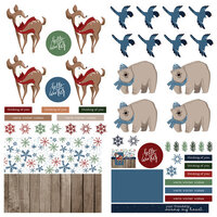 Photo Play Paper - Winter Memories Collection - 12 x 12 Double Sided Paper - Elements