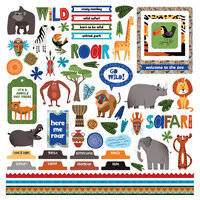 Photo Play Paper - A Walk On The Wild Side Collection - 12 x 12 Cardstock Stickers - Element