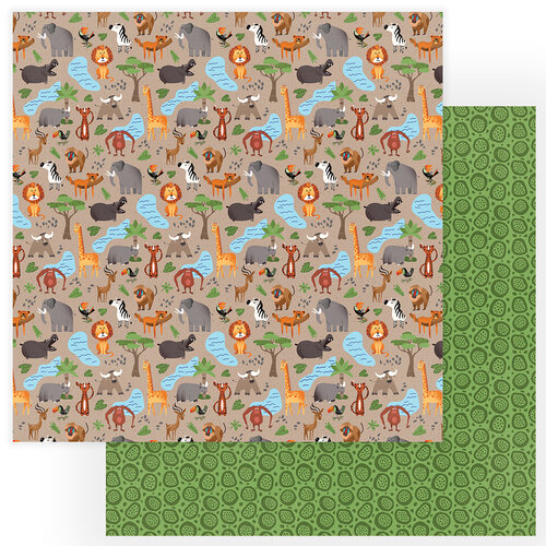 Photo Play Paper - A Walk On The Wild Side Collection - 12 x 12 Double Sided Paper - Animal Kingdom
