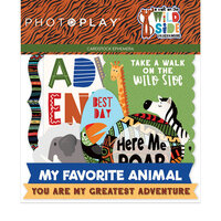 Photo Play Paper - A Walk On The Wild Side Collection - Die Cut Cardstock Pieces - Ephemera