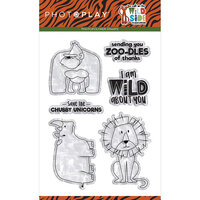 Photo Play Paper - A Walk On The Wild Side Collection - Clear Photopolymer Stamps