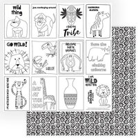 Photo Play Paper - A Walk On The Wild Side Collection - 12 x 12 Double Sided Paper - Color Me Sheet