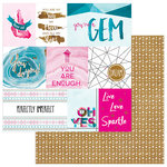 Photo Play Paper - You're a Gem Collection - 12 x 12 Double Sided Paper - Sparkle