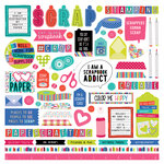 Photo Play Paper - You Had Me At Paper Collection - 12 x 12 Cardstock Stickers - Elements