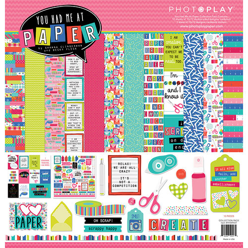 Photo Play Paper - You Had Me At Paper Collection - 12 x 12 Collection Pack