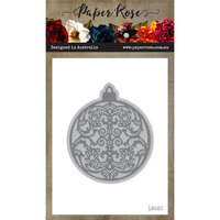 Paper Rose - Dies - Ornate Christmas Bauble - Large
