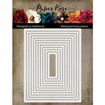 Paper Rose - Dies - Stitched Rectangles - 4.25 x 5.5