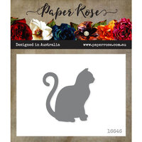 Paper Rose - Dies - Sitting Cat - Large