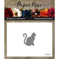 Paper Rose - Dies - Sitting Cat - Small
