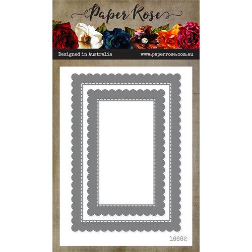 Paper Rose - Dies - Scalloped Rectangle Frames