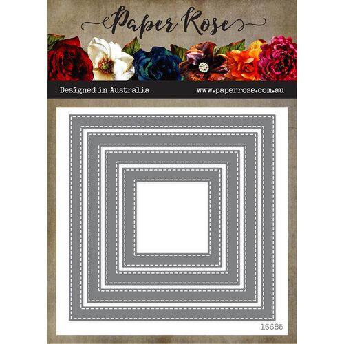 Paper Rose - Dies - Stitched Square Frames