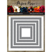 Paper Rose - Dies - Scalloped Square Frames