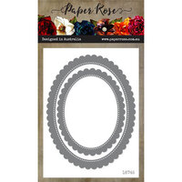 Paper Rose - Dies - Scalloped Oval Frames