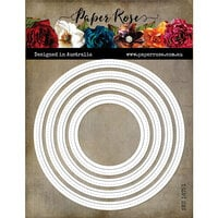 Paper Rose - Dies - Nesting Stitched Peek-a-Boo Circles