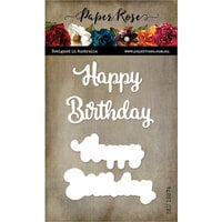 Paper Rose - Dies - Happy Birthday - Large