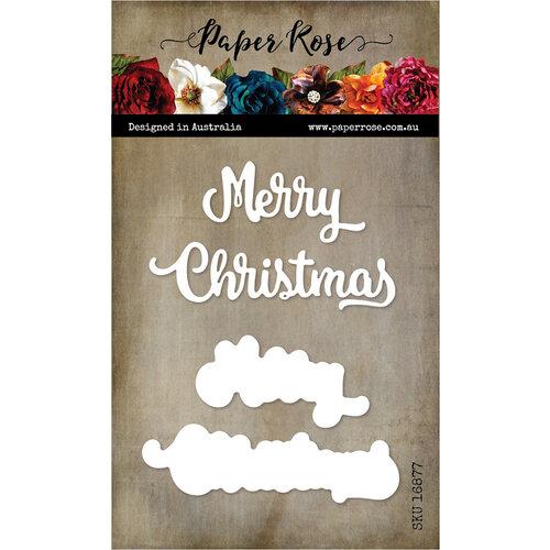 Paper Rose - Dies - Merry Christmas - Large