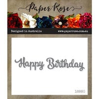 Paper Rose - Dies - Happy Birthday - Small