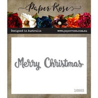 Paper Rose - Dies - Merry Christmas - Small
