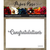 Paper Rose - Dies - Congratulations - Small