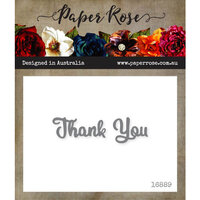 Paper Rose - Dies - Thank You - Small