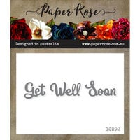 Paper Rose - Dies - Get Well Soon - Small
